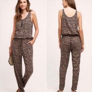 Anthropologie TINY Chione Bead Sleeveless Jumpsuit
